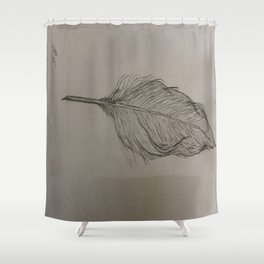 Goose Feather Shower Curtain