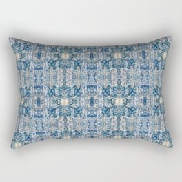 Sand and Stone Blue Pattern Design Abstract Rectangular Pillow
