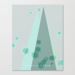 Modern Trees Color Mint Canvas Print