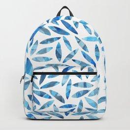Indigo Summer Botanical Pattern Backpack