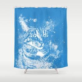 koko the cat wswb Shower Curtain