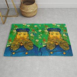 """Vincent van Gogh """"Portrait of Joseph Roulin"""" Rug"""