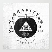 gravity Canvas Prints featuring Gravity by Farnell