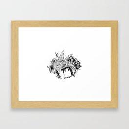 Bee - Go vegan Framed Art Print