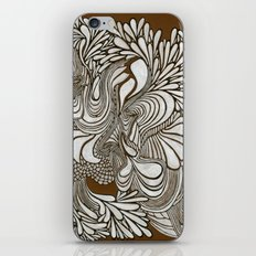 White Pattern iPhone Skin