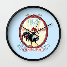 Roosters crow Wall Clock