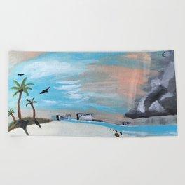 Summer Storm Beach Towel