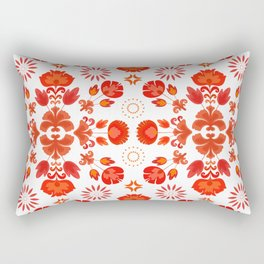 Fiesta Folk Red #society6 #folk Rectangular Pillow