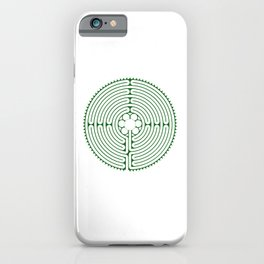 Cathedral of Our Lady of Chartres Labyrinth - Green iPhone Case