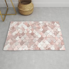 Cute, Mermaid Art, Blush Pink, Mermaid Prints Rug