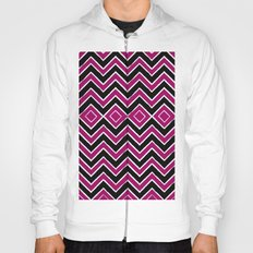 Pink Black Tribal Chevron Hoody