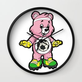 SOCCER Player TEDDY Bear Son Daughter Pit Cleats Wall Clock