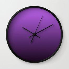 Violet Gradient Wall Clock