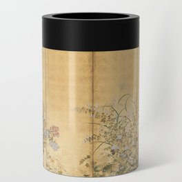 Japanese Edo Period Six-Panel Gold Leaf Screen - Spring and Autumn Flowers Can Cooler