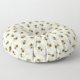 Busy Bees Pattern Floor Pillow