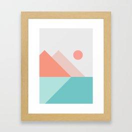 Geometric Landscape 13 Framed Art Print
