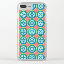 Gearwheels pattern Clear iPhone Case