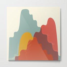 Worlds Collide - Climb Metal Print