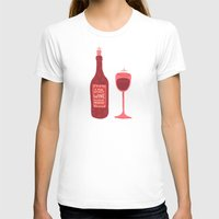 wine T-shirts featuring Wine by Cat Coquillette