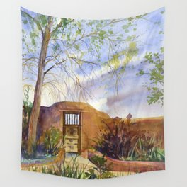 A Southwestern Gate Wall Tapestry