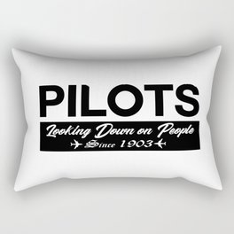 Funny Pilot Rectangular Pillow