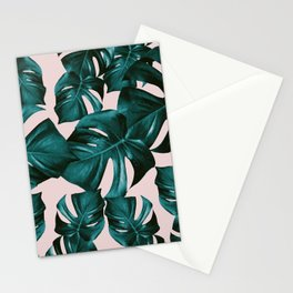 Monstera Leaves Pattern #4 #tropical #decor #art #society6 Stationery Cards