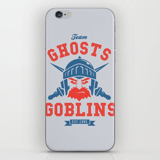 Team Ghosts & Goblins iPhone & iPod Skin