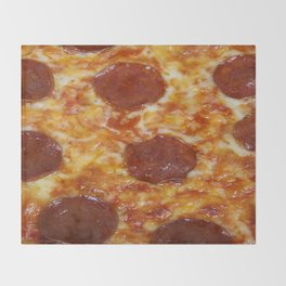Pepperoni Pizza Throw Blanket