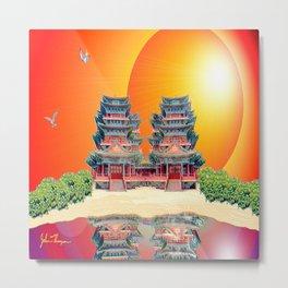 Double Pagoda Metal Print