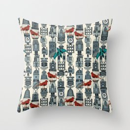steampunk towers Throw Pillow