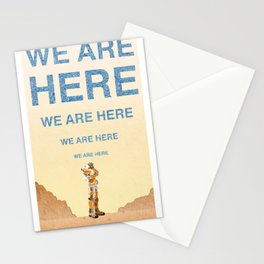 We Are Here-The Martian Stationery Cards