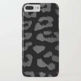 Black & Gray Metallic Leopard Print iPhone Case