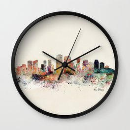 new orleans skyline Wall Clock