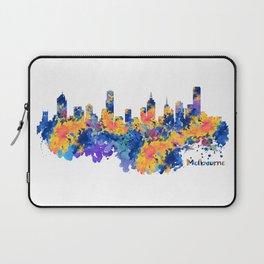 Melbourne Watercolor Skyline Laptop Sleeve