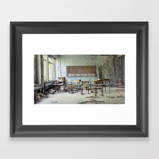 Chernobyl - школа Framed Art Print