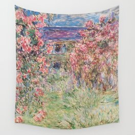 Monet, The House Among The Roses, 1917-1919 Wall Tapestry