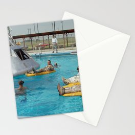 Apollo 1 - Relaxing by the Swimming Pool Stationery Cards