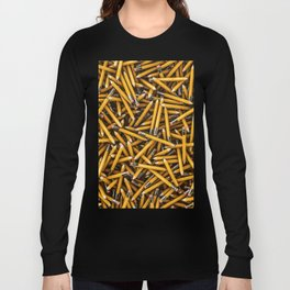 Pencil it in / 3D render of hundreds of yellow pencils Long Sleeve T-shirt