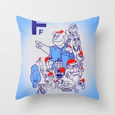 Team Fozzou Throw Pillow