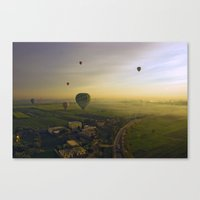 hot air balloons Canvas Prints featuring HOT AIR BALLOONS by Sara Ahlgren