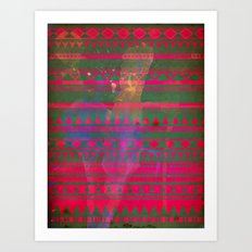 Aztec Dreams tribal pattern Art Print