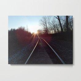 Follow The Tracks Metal Print