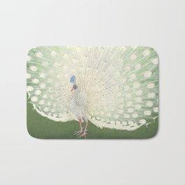Peacock, Ohara Koson - Japanese Woodcut Bath Mat