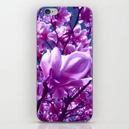 purple magnolia IV iPhone Skin