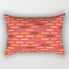 Modern Scandinavian Dash Red Rectangular Pillow