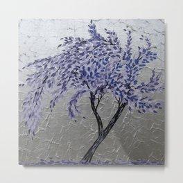 Purple Windswept Tree Metal Print