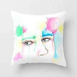 sad eyes Throw Pillow