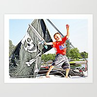 pirate ship Art Prints featuring Pirate Ship by Stephanie Todt