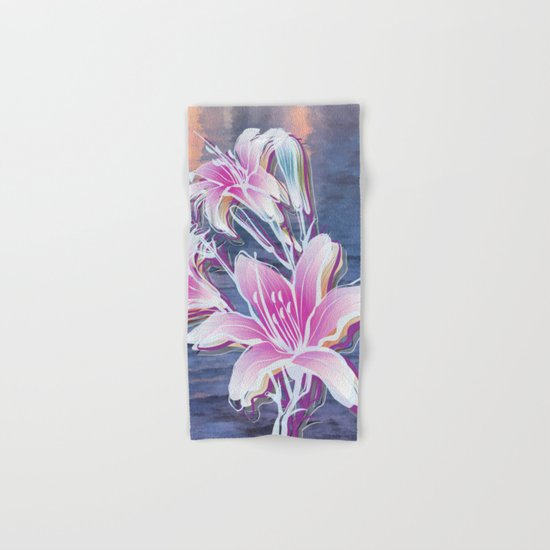 Variation of flowers - Sunset Hand & Bath Towel