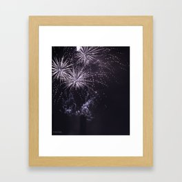 white sox fireworks Framed Art Print